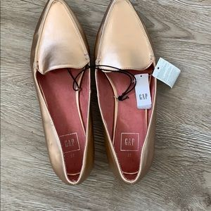Gap rose gold flats